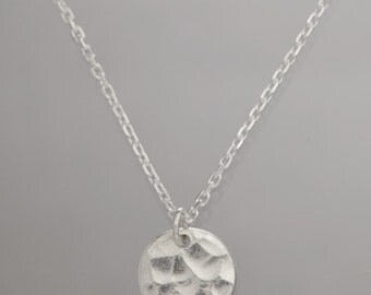 Hammered Necklace, Sterling Silver