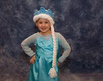 Elsa Hat, Frozen Hat, Child, Baby, Elsa Costume, Elsa Wig, Frozen Costume, Princess, Crochet, Wig, Kids, Accessories, Toddler, Girl