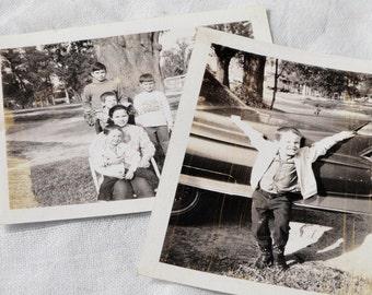 Vintage Black and White Photos, Young Boys, Ephemera, Scrapbooking, Card Making