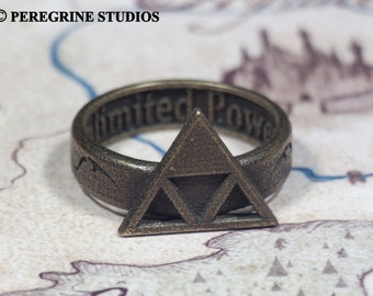 Triforce Ring of Power (Stainless Steel) Legend of Zelda