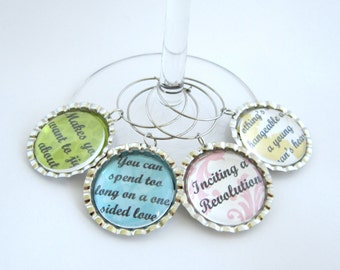 Downton Abbey Wine Glass Charm Mrs. Patmore Quotes