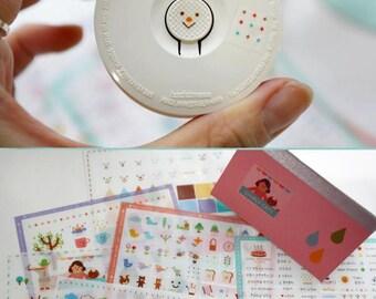 Korean Sticker -Cute Cartoon Amiley Deco Living Animals Label Cute sticker
