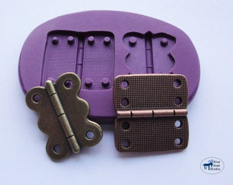Hinge Combo Mold/Mould -Silicone Molds - Vintage Industrial Steampunk - Polymer Clay Resin Fondant