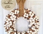 18 inch Real Cotton Wreath