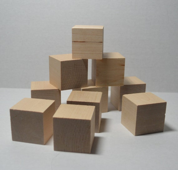 1 1 2 solid wood blocks set of 10 unfinished wood for Child craft wooden blocks