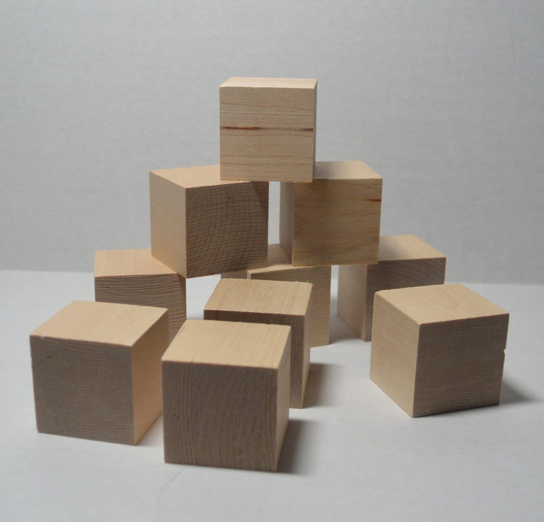 1 1 2 solid wood blocks set of 10 unfinished wood for Large wooden blocks for crafts