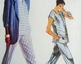 Uncut Retro Vogue Sewing Pattern no 1904 Multi Size 8 10 12 Tamotsu Individualist 1980s Jacket Top Pants