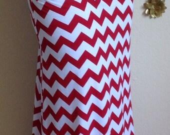 Red and white Chevron maxi skirt, summer skirt, chevron maxi skirt, skirt, maternity skirt, long skirt