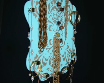 Jewelry Wall Organizer Aruba Blue Dangleboard the NEW jewelry organizer. Necklace, Bracelet accessories jewelry display holder