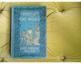 RARE Antique Children's Book - John of the Woods by Abbie Farwell Brown Illustrated by E. Boyd Smith Whimsical Fairy Tale Renaissance Story