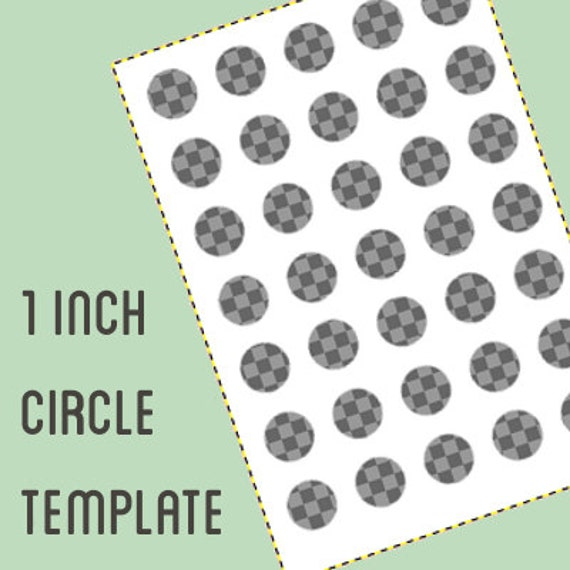 digital collage template 1 inch circle bottle cap template