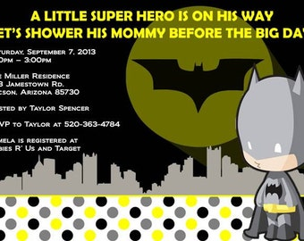 printable baby shower invitations baby batman