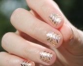 Gold Chevron Transparent Nail Wraps