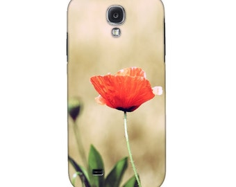Smartphone Case Vintage Summer for iPhone iPod  Samsung Blackberry HTC Flowers Nature Photography Fine Art Vintage poppy red beige