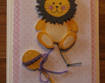 Handmade Cards, Handmade New Baby Card, New Baby Card, Children's Birthday Card