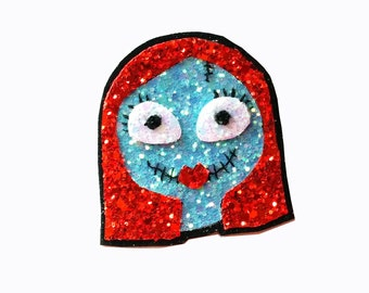 10% off with the code BDAY10  Glittered Sally Hair Clip or Brooch Halloween Nightmare before Christmas