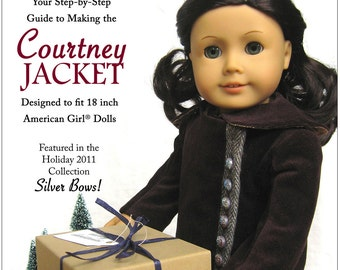 Pixie Faire Melody Valerie Couture Courtney Jacket Doll Clothes Pattern for 18 inch American Girl Dolls - PDF