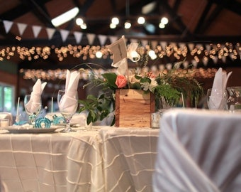 Rustic Table Centerpiece Wooden Box  -  Woodsy Rustic Wedding Decor Rustic Shabby Chic