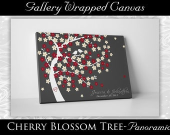 Wedding Guest Book Canvas - Wedding Gifts For Couple - Gallery Wrapped Canvas -20x30- 150 Guest Sign In - Gallery Wrapped Canvas