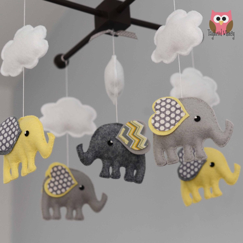 elephant mobile custom mobile ships in 4 6 weeks. Black Bedroom Furniture Sets. Home Design Ideas