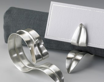 Sterling Silver Napkin Ring And Placecard Holder