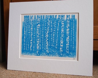 Silver Birches lll Lino Print Lino Cut