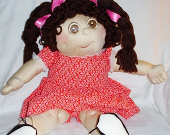 Mada is an 18 Inch Soft Sculpture Doll and Loves You- Sarah Originals Dolls
