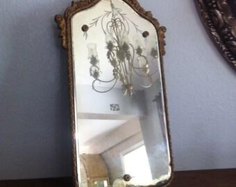 Vintage Ornate Mirror~ Antique Gesso~ Hollywood Regency