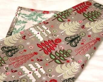 Set of 4 Reversible Christmas Napkins