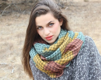 Winter  infinity scarf  soft and cute