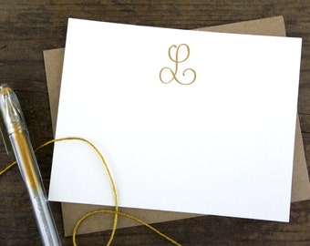 Custom Foil Stamped Stationery | Personalized Notecards | Gold Foil
