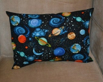 Travel Pillow Case / Child Pillow Case PLANETS in our SOLAR SYSTEM