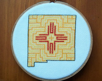 New Mexico Cross Stitch Pattern, Digital Download PDF