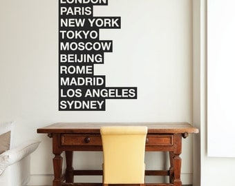10 cities of the world wall sticker london wall stickers new york wall decals paris