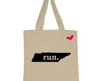 RUN Tennessee Canvas Tote Bag