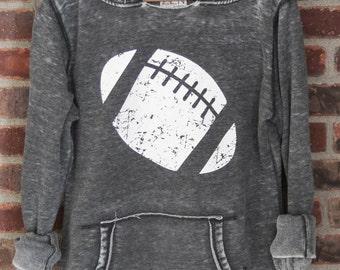 Football Girly Pullover Hoodie Sweatshirt