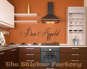Bon Appetit vinyl wall decal quote
