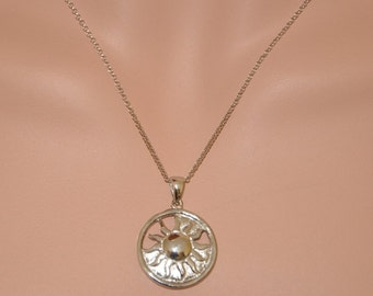 Sterling Silver Sun Charm Necklace