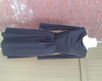 Vintage Little Black Dress Long Sleeve Size 8
