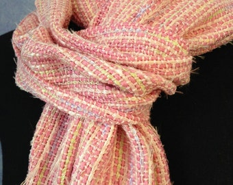 Chanel-Inspired Pink Handwoven Scarf