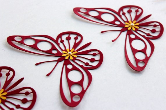 Etsy Butterfly Wall Decor : Set of butterflies butterfly wall art by mydreamdecors