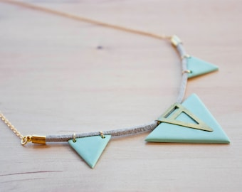 Triangle Necklace · Geometric necklace · Minimal accesories