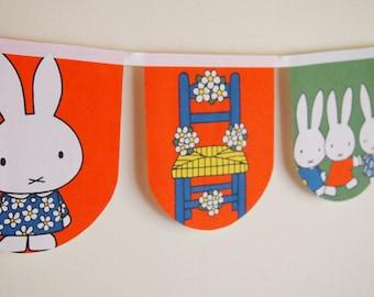 Miffy's birthday - Vintage Miffy bunting