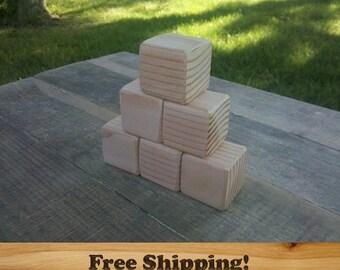 1.5 inch Unfinished Wood Blocks, Fir, Natural Baby blocks, Baby Shower Activity, Handmade Craft blocks, Wooden Blocks, Wood Blocks