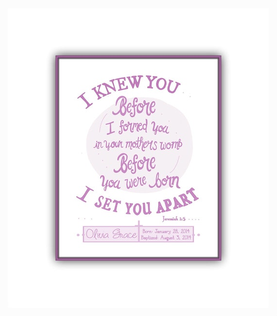 Baby Gift God Bible Verse : New baby girl gift instant download personalized baptism