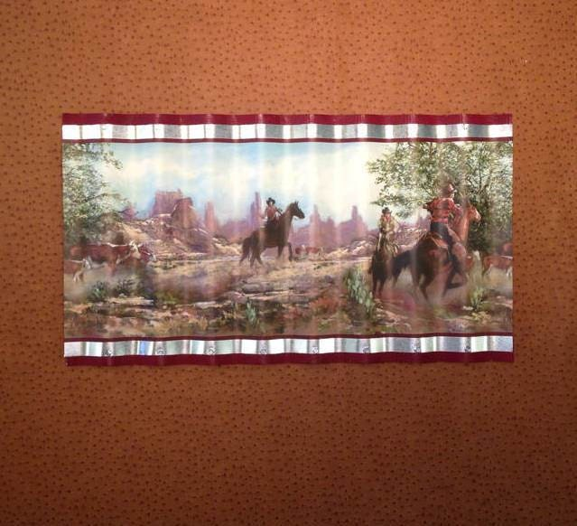 wiggle art metal western cowboy wallpaper border picture