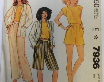 HTF VINTAGE 1982 McCall's 7936 Jones New York SEPARATES Pattern sz 14 UNcut