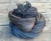 Dusty Paperback - Hand Dyed Yarn - Worsted - Merino Polwarth Silk