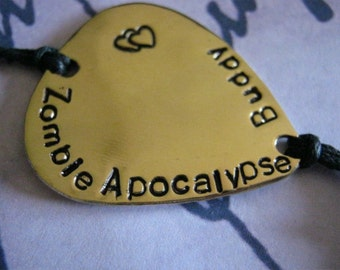 Zombie Apocalypse, Zombie Apocalypse Buddy, Zombie Buddy, Zombie Jewelry, Walking Dead, Personalized, Anniversary gift, BFF, His And Hers