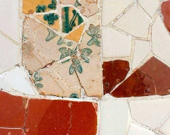 Wall art, Mosaic Tile, Gaudi, Spanish tile, mosaic wall art, decorative tiles, Contemporary art